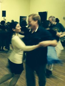 Rob and susan at a contra dance in Arlington Mass. Thank you Nor' Easter for a great night of music and dancing!