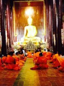 Buddhist temple in Thailand where Amy is studying Thai Massage