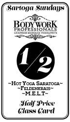 Half price movement and yoga class card