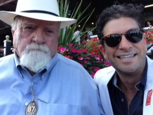 Wilfred and Nick at Saratoga Race Track August 2015