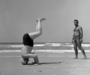 Prime Minister of Isreal, David Ben-Gurian after lessons with Dr. Feldenkrais in 1957