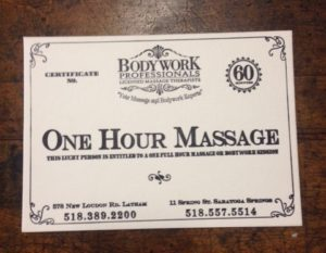 2016 Gift certificate