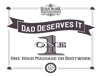 Father's Day Gift of Massage Therapy