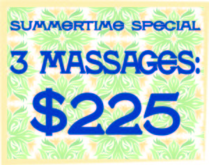 Massage specials for summertime