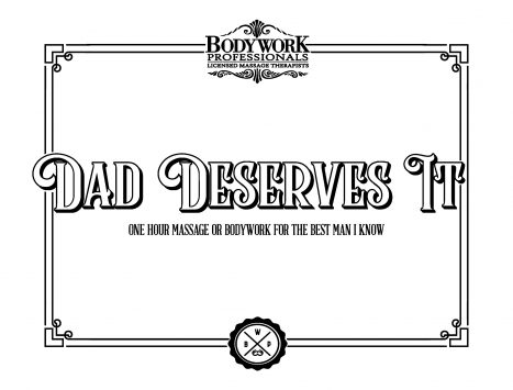 Father Day Gift certificate