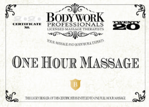2020 Massage Gift Certificate