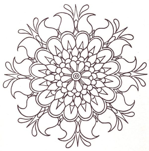"""Corona Mandala #2 """"Shielding Bloom"""""""""""