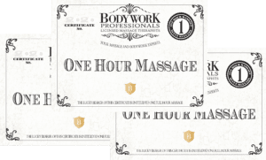 3-One Hour massages